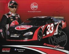 "SIGNED 2012 BRANDON JONES ""RHEEM"" #33 NON NASCAR PASS LATE MODEL POSTCARD"