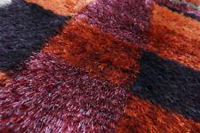 SF-0098 Hochflor Teppich Shaggy ORANGE  handarbeit Design ca 224 x 71 cm Neuware