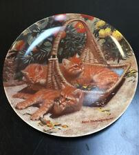 1988 Edwin M. Knowles Flower Bed British Shorthairs Amy Brackenbury Cat Plate