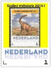 Nederland 2014-1 Ucollect Prehistorie Brachiosaurus zegel op zegel   postfris
