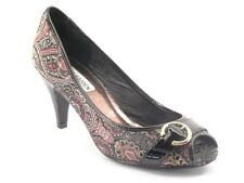New STEVE MADDEN Women Fabric High Heel Peep Toe Paisley Pump Shoe Sz 7.5 M