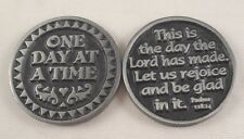 One Day At A Time Pocket Token Coin - set of 2