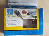 ESU 54610 LokPilot H0 Decoder V4.0 MOT/DCC/SX RailCom Kabel + 8pol.St. NEU
