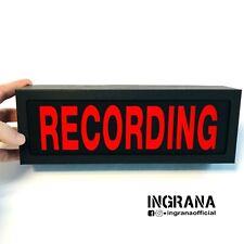 Insegna luminosa RECORDING  in cartotecnica, luce recording, Led light box Sign