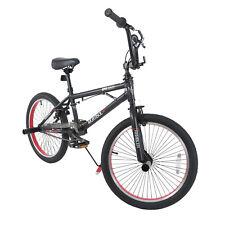 "20"" Boys Freestyle BMX Bike Bicycle Black & Red Antiskid Tire Sports"