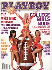PLAYBOY MAGAZINE COLLEGE GIRLS NUDE THE WEST WING INTERVIEW OCTOBER 2001