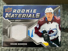 2020-21 UD Series 2 Rookie Materials Shane Bowers Colorado Avalanche #RM-SB