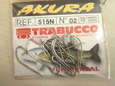 1 Confeizione 15 AMI TRABUCCO AKURA serie 515N n 02 pesca BB54