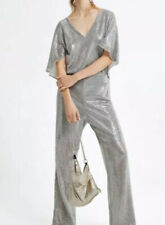 ZARA  Silver Sparkly  jumpsuit Xs Brand New.      SALE SALE SALE REDUCED