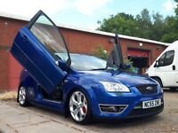 2006 FORD FOCUS ST3 IN PERFORMANCE BLUE, MODIFIED, LAMBO DOORS