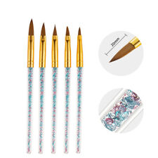 5pcs Nail Crystal Brush Powder Diamond Pen Carved Light Therapy Manicure Tools