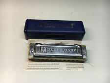"Hohner 532/20 Ms A Blues Harp Zas Harmonica ""A"" Original Case Made In Germany"