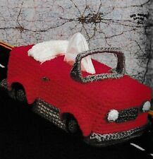Convertible Car Auto Tissue Box Cover Crochet Pattern Instructions ONLY