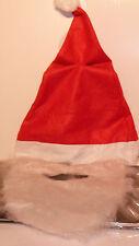Deluxe Cappello Natalizio con Barba & Baffi Da Uomo Costume Costume Natale ACCES