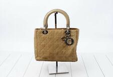 Christian Dior Handbag Lady Dior Cannage Quilt Vintage Bag Purse Tote Small RARE