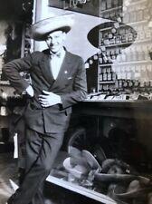 Antique Vintage Photo 20's 30's Hat Shop Dapper Man Sombrero Fabulous