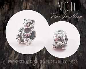 NC Designs Authentic Pandora Sterling Silver Teddy Bear Charm Bead 790395