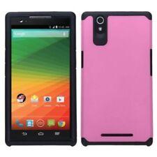 Fundas y carcasas liso de color principal rosa para teléfonos móviles y PDAs ZTE