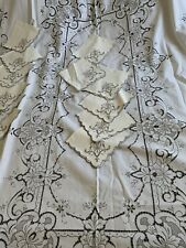 More details for hand embroidered madeira tablecloth
