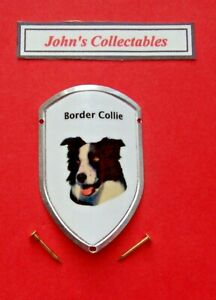 BORDER COLLIE WALKING / HIKING STICK BADGE  / MOUNT   NEW IN PACKET