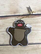 Christmas Gingerbread Man Photo Frame Ornaments Xmas Holiday Tree Decoration