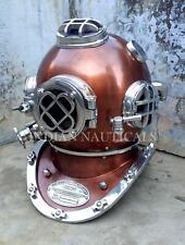 Copper Us Vintage Mark V Brass Diving Divers Helmet Deep Sea Marine Boston Morse