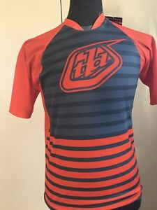 Troy Lee Designs MTB Jersey Shirt Mountain Bike Men's Small Orange