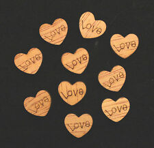 10pcs Love Wooden Embellishments Hearts Valentines Cards Scrapbooking Art Craft