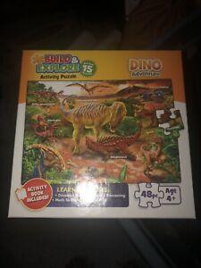 BUFFALO 48 piece puzzle DINO ADVENTURE Build & Explore with Activity Book 2015