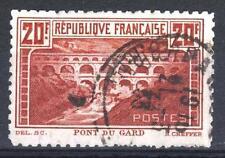 "FRANCE STAMP TIMBRE N° 262 B "" PONT DU GARD 20F DENTELE 11 "" OBLITERE TB   P046"