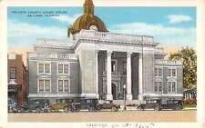 De Land Florida Volusia Court House Street View Antique Postcard K29365