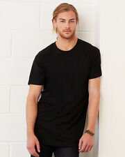 MEN'S T-SHIRT EXTRA LONG TALL BODY URBAN TEE LONGLINE OVERSIZED PLAIN TOP OFFER
