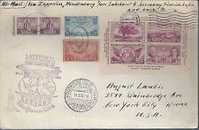 1936 FFC Zeppelin Hindenberg Lakehurst NJ to Germany Large Cover