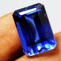 Natural Certified Emerald Cut 9 Cts Blue Ceylon sapphire Loose Gemstone