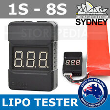 Lipo Battery Tester with CASE BX100 Checker Low Voltage Alarm 1S-8S LED Volt RC