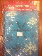 2 x Washable Snowflake Christmas Doormats by The Garden & Home Co. Great Value!
