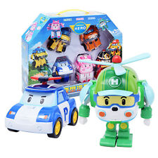 Robocar Poli DELUXE ROY & BASE CAMP GARAGE PLAY SET Transforming Figure Toy New