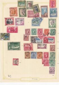 JAMAICA PRE 1953 ALBUM PAGE OF 40 STAMPS