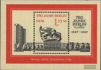 DDR Block89 (kompl.Ausg.) FDC 1987 750 Jahre Berlin (III)