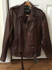 Schott 626 - Brown - Men's Size M - Lightweight Fitted Cowhide Motorcycle Jacket