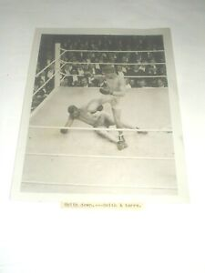 Original press Photo boxing  boxe SMITH  & GEORGES CARPENTIER