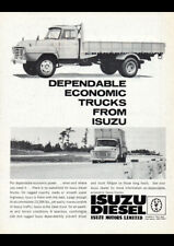 "1963 ISUZU DIESEL TRUCKS AD A1 CANVAS PRINT POSTER FRAMED 33.1""x23.4"""