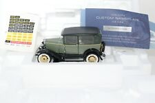 Franklin Mint 1930 Ford Model A Tudor Diecast Car Green In Foam Clamshell