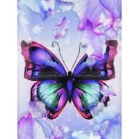 DIY 5D Diamond Painting Kit Purple Butterfly Full Drill Embroidery Cross Stitch