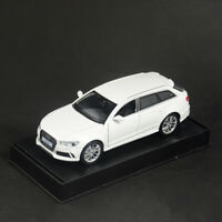 Audi RS6 Quattro 1/32 Scale Model Car Diecast Toy Vehicle Pull Back Kids White