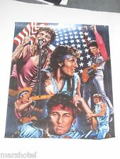 """Bruce Springsteen The Boss Art Poster Asst Images 1980'S? 18""""X22"""" Glossy Color"""
