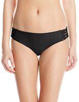 Body Glove Women's Smoothies Ruby Bikini Bottom, Black, SZ SMALL