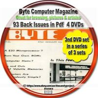 Byte microcomputer Magazine  Byte started in 1975 Pdfs 4 DVDs 3rd set