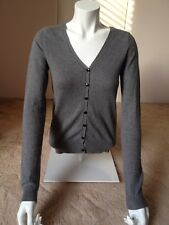 New without tag grey H&M cardigan with elbow patches size 8