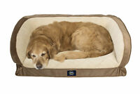 Bed Pet Quilted Dog Orthopedic Gel Memory Foam Cooling Sofa Large Cozy Couch